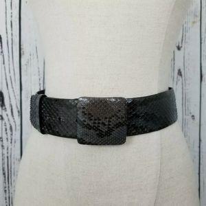 Oscar De La Renta Genuine Python Waist Belt Sz S